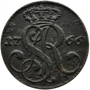 Stanisław A. Poniatowski, grosz 1766 G, pruskie fałszerstwo