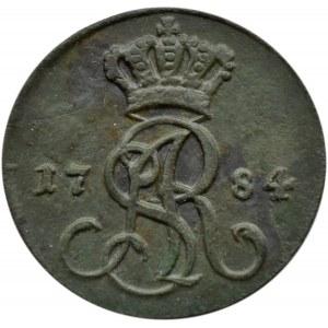 Stanisław A. Poniatowski, grosz 1784 E.B., Warszawa, CIEKAWOSTKA - pogoń z kopią?