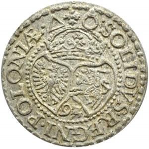 Zygmunt III Waza, szeląg 1592, Malbork, bardzo ładny