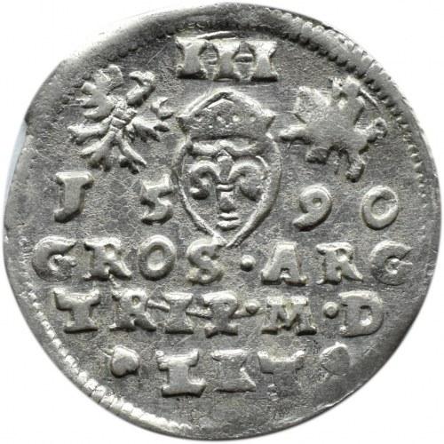 Zygmunt III Waza, trojak 1590, Wilno (R2)