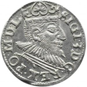 Zygmunt III Waza, trojak 1591, Poznań, piękny