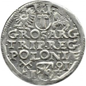 Zygmunt III Waza, trojak 1591, Poznań