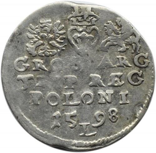 Zygmunt III Waza, trojak 1598, Lublin (R), NIENOTOWANY