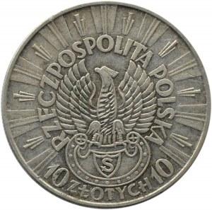 Polska, II RP, Józef Piłsudski 10 złotych 1934, Warszawa, orzeł strzelecki