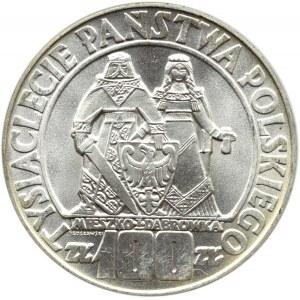 Polska, PRL, 100 złotych 1966, Mieszko i Dąbrówka, Warszawa, UNC