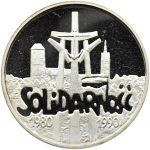 Polska, III RP 100000 złotych 1990 - Solidarność tzw. gruba