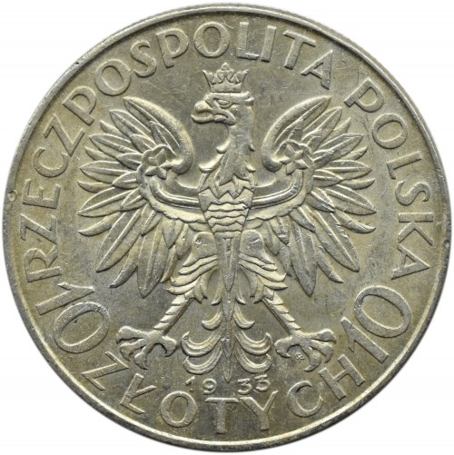 Polska, II RP, Głowa Kobiety, 10 złotych 1933, Warszawa