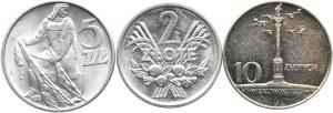 Polska, PRL, lot monet 1960-1974, Warszawa
