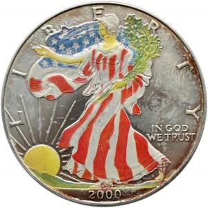 USA, Liberty (Orzeł) - 1 dolar 2000, koloryzowana, UNC