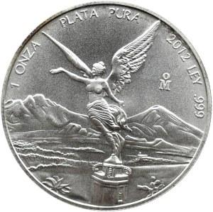 Meksyk, 1 uncja srebra 2012, UNC