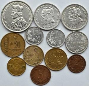 Litwa, lot 12 monet 1925-36, srebro