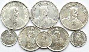 Szwajcaria, lot franków 1932-1967 B, Berno