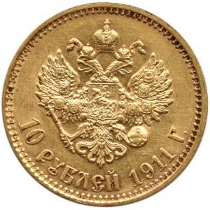 Rosja, Mikołaj II, 10 rubli 1911 , Petersburg