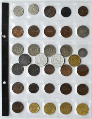 Niemcy, XIX-XX wiek, lot drobnych monet 28 sztuk