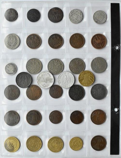 Niemcy, XIX-XX wiek, lot drobnych monet 34 sztuki, srebro