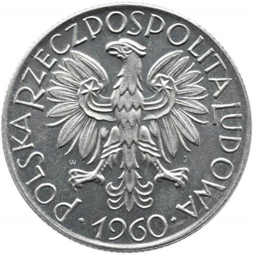 Polska, PRL, Rybak, 5 złotych 1960, Warszawa, proof-like