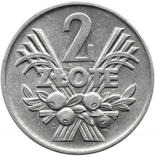 Polska, PRL, Jagody, 2 złote 1960, Warszawa, piękne