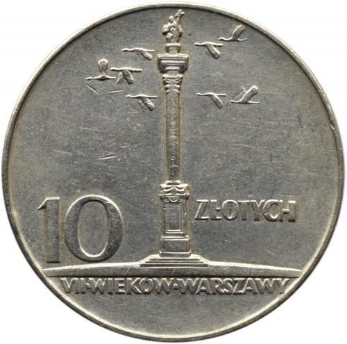 Polska, PRL, 10 złotych 1966, Kolumna Zygmunta, Warszawa