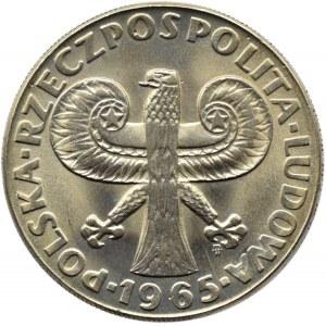 Polska, PRL, 10 złotych 1965, Kolumna Zygmunta, Warszawa, UNC