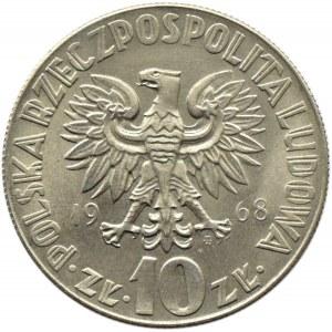 Polska, PRL, M. Kopernik, 10 złotych 1968, Warszawa, UNC