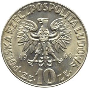 Polska, PRL, M. Kopernik, 10 złotych 1969, Warszawa, UNC