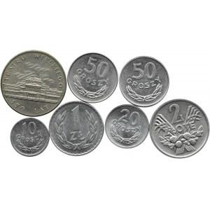 Polska, PRL, lot siedmiu sztuk monet, Warszawa