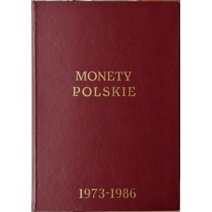 Polska, PRL, pełen klaser 1973-1986, wszystkie monety, Warszawa