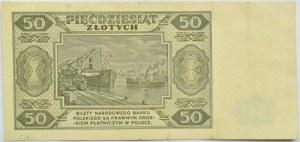 Polska, RP, 50 złotych 1948, seria DW