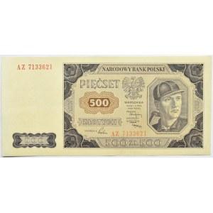 Polska, RP, 500 złotych 1948, seria AZ, Warszawa