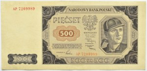 Polska, RP, 500 złotych 1948, seria AP, Warszawa
