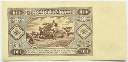 Polska, RP, 10 złotych 1948, seria R, Warszawa