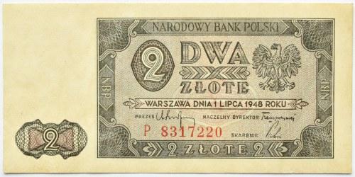 Polska, RP, 2 złote 1948, seria P, Warszawa