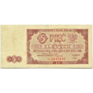 Polska, RP, 5 złotych 1948, seria A rzadkie