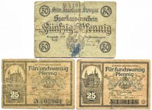 Striegau, Strzegom, lot 15 notgeldów, piękne