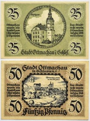 Ottmachau, Otmuchów, lot 2 notgeldów 1921