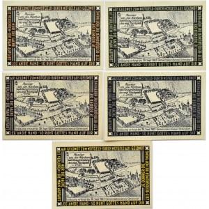 Ottendorf-Okrilla, lot 5 notgeldów 1921, komplet