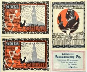 Ohlau, Oława, lot 4 notgeldów 1919-1921