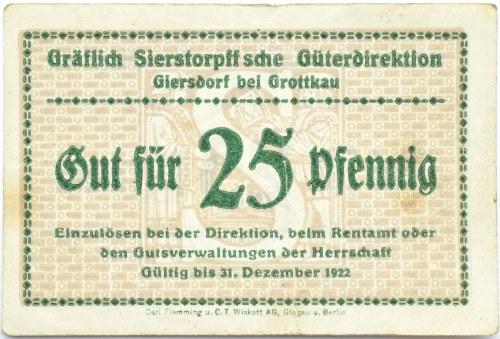 Grottkau, Grotków, 25 pfennigów 1922