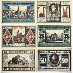 Breslau, Wrocław, lot 6 notgeldów 25-50 pfennig 1921