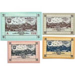 Exin, Kcynia, lot notgelgów, 10 pfennige-1 marka 1918, stan UNC