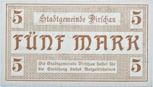 Dirschau, Tczew, 5 marek 1918, UNC
