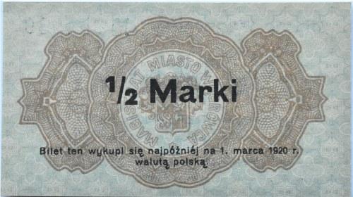 Wągrówiec, Wągrowiec, 1/2 marki 1919, UNC