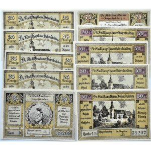 Hohenfriedberg, Dobromierz, lot 10 notgeldów, UNC