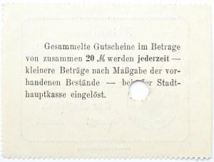 Bromberg, Bydgoszcz, Gutschein 1 marka 1914, numer 36502, UNC