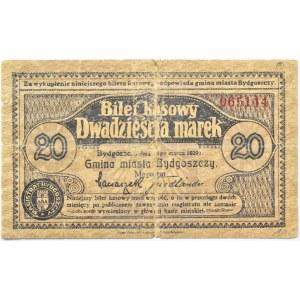 Bromberg, Bydgoszcz, 20 marek 1920, numer 065144, fioletowy