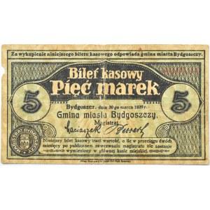 Bromberg, Bydgoszcz, 5 marek 1920, numer 000594 - niski numer