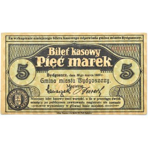 Bromberg, Bydgoszcz, 5 marek 1920, numer 049301, UNC