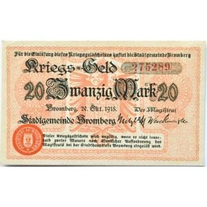 Bromberg, Bydgoszcz, 20 marek 1918, numer 275289, UNC