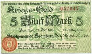 Bromberg, Bydgoszcz, 5 marek 1918, numer 057647, zielony