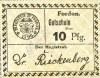 Fordon/Bydgoszcz, Gutschein 10 pfennig 1918, nowodruk, odmiana 1.